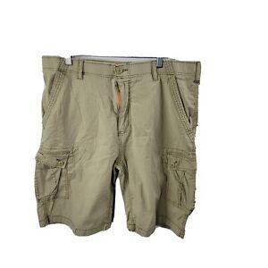 Wear First Cargo Shorts 38 Beige Tan Pockets Cotton Stretch