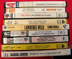 """LOT (9) 7"""" REEL TO REEL FACTORY TAPES + BOXES~ALL CLASSICAL EASY GREATS~LOT # 5"""