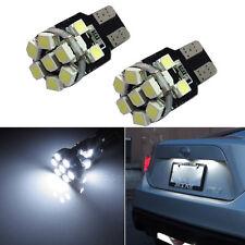 2pcs Xenon White 13-SMD T10 168 194 2825 LED Bulb For Car License Plate Lights