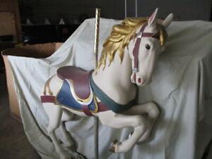 UNPAINTED Large Prancer Carousel Horse