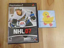 PS2 NHL 07 Sony PlayStation 2 EA Sports 2006 Ice Hockey Online Broadband