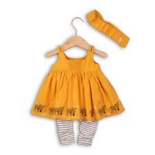 Babaluno ensemble 3 pièces robe moutarde caleçon et bandeau bébé 12-18 mois
