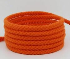 5mm Natural Cotton Rope 8 Strand Braided Long Twisted Cord Twine Sash Accessory Orange 2m