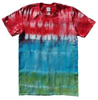 TIE DYE T SHIRT Rainbow Stripe Tye Die Tshirt Festival Top Tee Rainbow Party