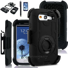 Defender Protective Case W/Clip & Screen Protector For Samsung Galaxy S3