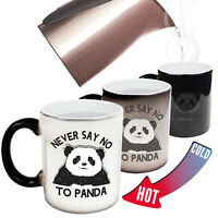Funny Mugs Never Say No To Panda Christmas MAGIC NOVELTY MUG secret santa