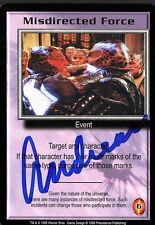 BABYLON 5 CCG Card Andreas Katsulas (1946-2006) Misdirected Force AUTOGRAPHED
