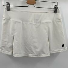Prince Women's Gold Skort Knit Small Tennis Athletic Skirt White
