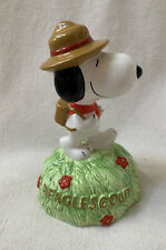 Willitts Ceramic Peanuts Snoopy Beaglescout Music Box 9310 Climb Every Mountain