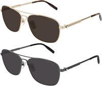 Mont Blanc Men's Classic Brow Bar Navigator Sunglasses - MB0026S