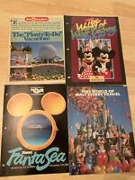 "4 Vintage Disney Vacancy Mags 1985 World Of Walt Disney Travel ""Disney FantaSea"""