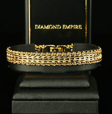 Damen Armband Bismarck 20,0 cm x 11 mm, 999er Gold 24K vergoldet UVP: 89€ B1380