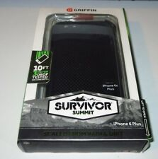 Griffin SURVIVOR Summit iPhone 6 6s Plus CASE - NEW - Black , Black - edc