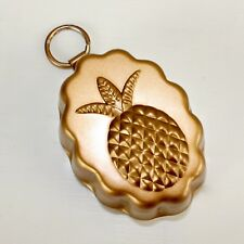 Small Pineapple Copper Mold Wall Hanging Decor 2.25 X 1.75 Inches Scolloped Edge