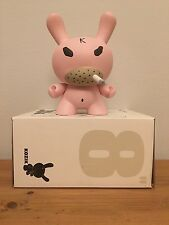 """Kidrobot Dunny 8"""" Vinyl Pink Hate by Frank Kozik - Released in 2005 RARE"""