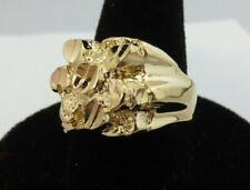 Size 9 Mens Squared Off Style Nugget Bling Bling Ring Style 2