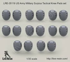 Live Resin 1:35 US Army Surplus Tactical Knee Pads Set - Resin Detail #LRE35119