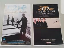 U2  11x17 2018 tour promo concert poster Joshua tree lp tickets