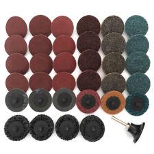 "35X Sanding Discs 2"" 50mm Type R Roll Lock Discs Pad Sanding Roloc Abrasives Set"