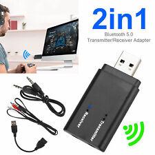 Bluetooth 5.0 Transmitter & Receiver Audio Wireless Adapter 3.5mm A2DP TV Stereo