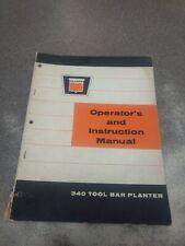 OLIVER 340 TOOL BAR PLANTER OPERATORS MANUAL 437025