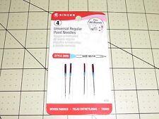 SINGER UNIVERSAL REGULAR POINT Needles- Style 2020:(Item 4723) 90/14 - 4 pack