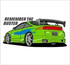 Remember the Buster Bumper Vinyl Sticker Paul Walker RIP Eclipse JDM 4G63T Talon