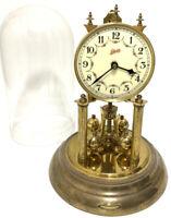 Vintage 1954 SCHATZ GERMANY Brass 400 Day Anniversary 49 Clock Working No Key #2