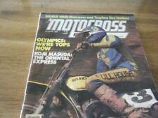 VINTAGE MOTOCROSS ACTION AGAZINE  JANUARY 1978