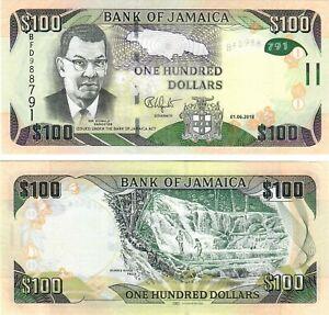 Jamaica 100 Dollars 2018 UNC