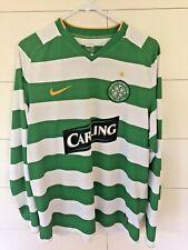 Nike Celtic Fc Soccer Home Long Sleeve Jersey Shirt Kit #14 Usa Seller Size L
