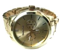 Men's Dress Watch Montres Carlo MC40733 Gold Bracelet Band, Mens Casual Watch