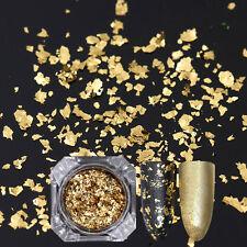 BORN PRETTY Gold Sequins Nail Flakes Glitter Paillette Pulver Maniküre Deko