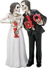 Love Never Dies Skeleton Wedding Couple Bride and Groom I Do Figurine New