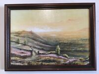 Vintage framed original signed oil painting
