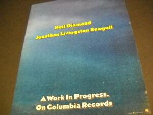 NEIL DIAMOND Jonathan Livingston Seagull work...progress Vintage PROMO POSTER AD