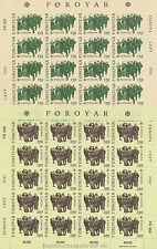 EUROPA CEPT 1981 FOLKLORE - FÄRÖER FOROYAR 63-64 KLEINBOGEN **