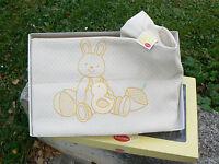 NUOVO Somma Bimbi copriletto piquet culla bambini coniglio e pulcino