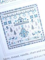 COUNTED CROSS STITCH KIT Happy Christmas Winter Scandi Sampler RIVERDRIFT