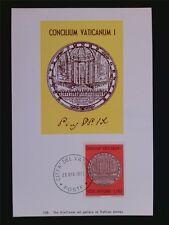 VATICAN MK 1970 MEDAILLE KONZIL MAXIMUMKARTE CARTE MAXIMUM CARD MC CM c6264