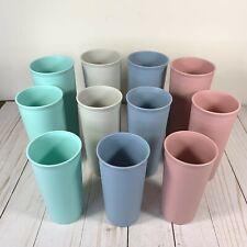 Set of 11 Tupperware Stackable Tumbler Cups #107, 115, 116 Pastel EUC!