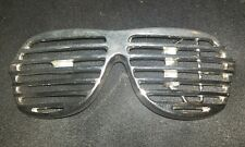 ROCK REBEL Chrome Sunglasses Louver Shades Kanye West Belt Buckle RARE!!!