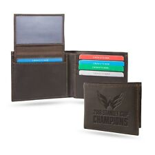 Washington Capitals 2018 Champions RFID Protection Brown LEATHER BiFold Wallet