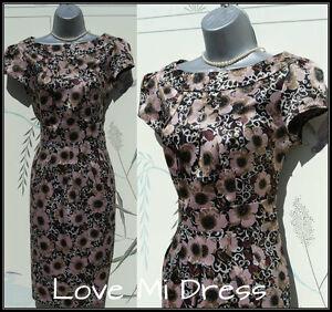 Gorgeous Kaliko 40's 50's Style Day/Evening Dress Sz 8 EU36