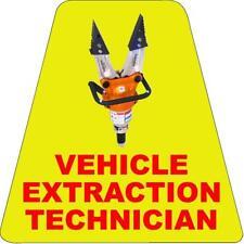 Vehicle Extrication Tech HELMET TETS TETRAHEDRONS HELMET STICKER  EMT REFLECTIVE