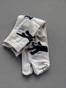 Tabi Split Toe Cotton Crew Socks - Flip Flops - Japanese Arts - Unisex