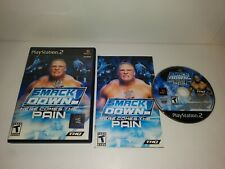 WWF Smackdown HERE COMES THE PAIN Playstation PS2 Wrestling Video Game COMPLETE!