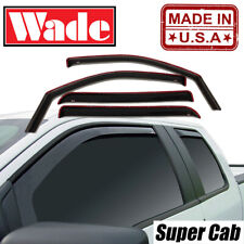 Wind deflectors In-Channel Fits Ford F-150 Super Cab 2004-2014