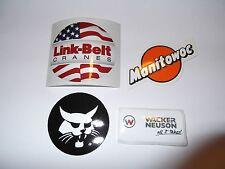 Oilfield Manitowoc & Link-Belt Crane stickers Union Iron Workers Mining Sticker