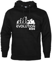 Evolution Ride Funny Hoodie Biker Enthusiast Motorbike Accessories Motorcycle